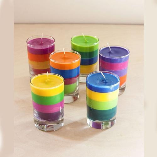 شمع های رنگی